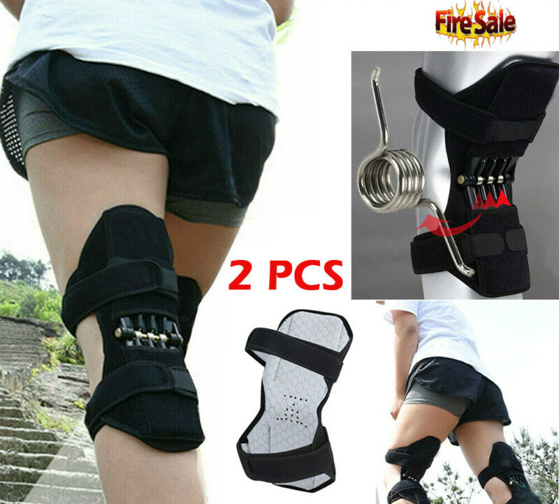 1 Pairs High Quality Spring Knee Brace Support Protective Sports Knee Pad Sleeve Basketball Volleyball Fitness Running Cycling