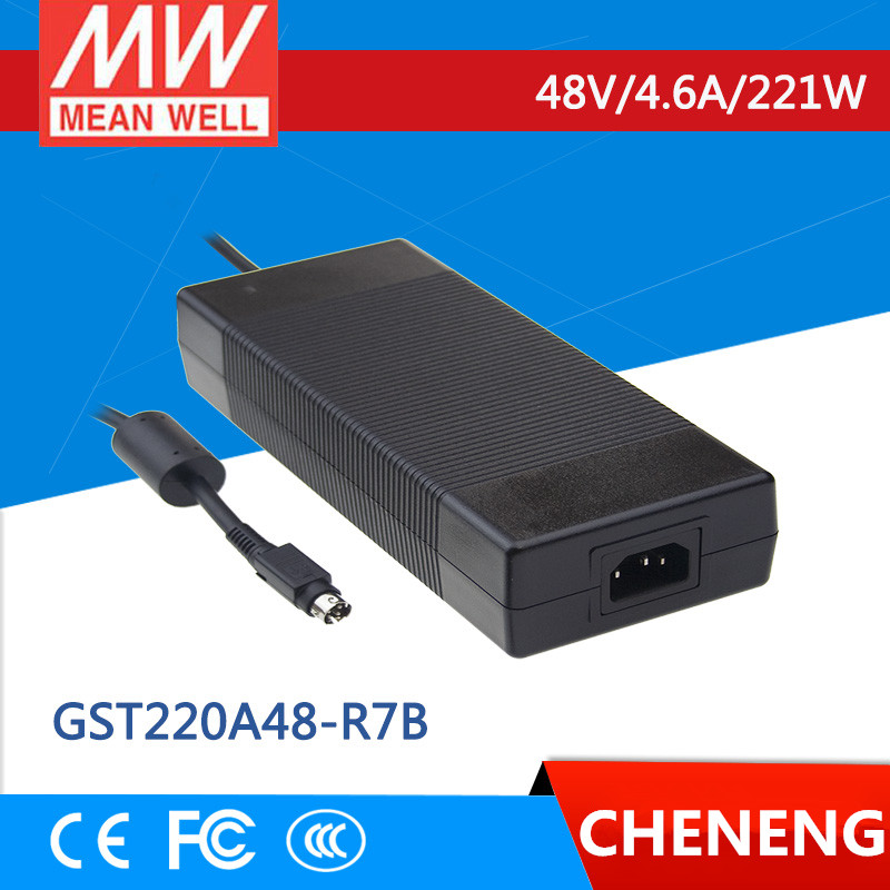 цена на MEAN WELL original GST220A48-R7B 48V 4.6A meanwell GST220A 48V 221W AC-DC High Reliability Industrial Adaptor
