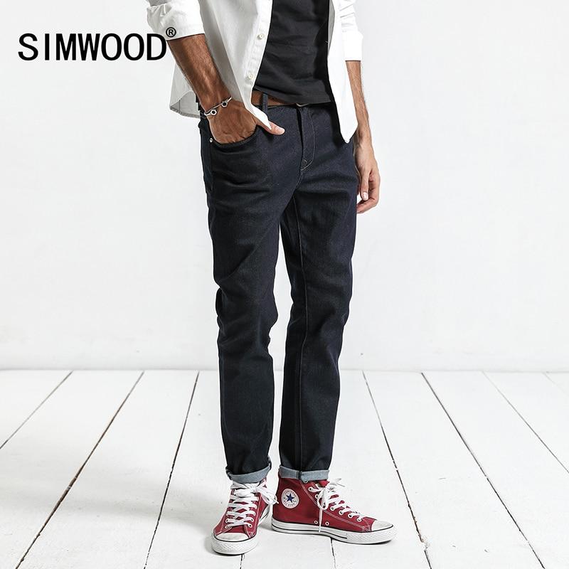 SIMWOOD 2019 Spring New   Jeans   Men Skinny Biker   Jeans   Denim Overalls Men Slim Fit Plus Size Fashion Trousers Plus Size NC017014