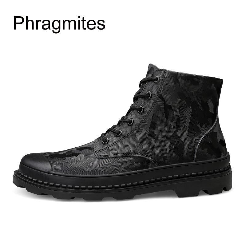 Combate Homens De Sexy Masculinos Camuflagem colorido Coreano Moda Phragmites multi Vaca Sapatos Inverno Botas Inglaterra Couro Dos Preto Novos PExw0WqAp