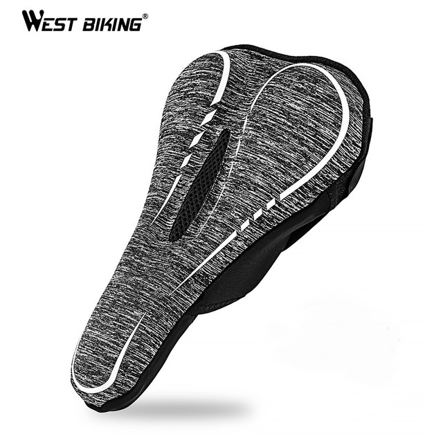 WEST BIKING Thick Sponge Bike Seat Cover Comfortable Saddle Pad Soft  Cycling Cushion Seat Cover For MTB Road Bike Accessories-in Bicycle Saddle  from