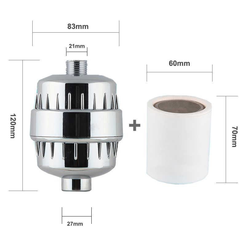 Встроенный душевой фильтр для ванной комнаты, фильтр для воды для купания, очиститель, лечение, смягчение здоровья, Удаление хлора, 2 шт., фильтр-картридж