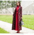 S-3XL Vintage Embroidery Long Trench Coat For Women Long Sleeves Spring Autumn Maxi Plus Size Coat High Quliaty Manteau Femme