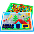 NEW ARRIVAL Funny Educational Toy Creative Peg Board with  Building Kits Building Toy Kits Intelligence Toy for Kids