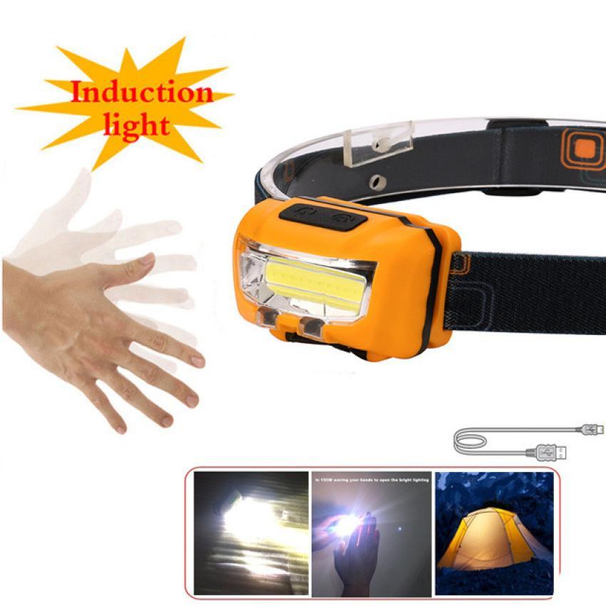 world wind #4001USB Rechargeable Strong Light COB LED Waterproof Sensor Headlights