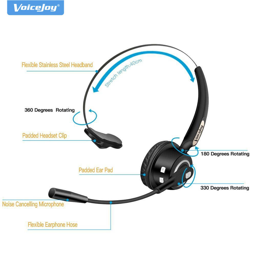 Bluetooth Headset Wireless Bluetooth Earpiece With Mic Over The Head Headset For Cell Phone Call Center Voip Skype Music Headset For Voip Phone Headset Microphone Wireless Systemsheadset Telephone Aliexpress