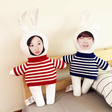 Diy Cartoon 60cm/95cm Large Photo customized pillow rabbit cushion Creative Christmas gift plush cushions Baby Doll Birthday