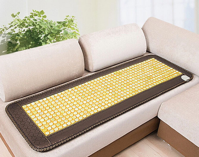 Good Jade Mat! Natural Tourmaline Cushion Health Care Pad Tourmaline Heat Physical Therapy Cushion Heat Free Shipping good quality natural jade mat tourmaline heat chair cushion far infrared heat pad health care mat ac220v 45 45cm free shipping