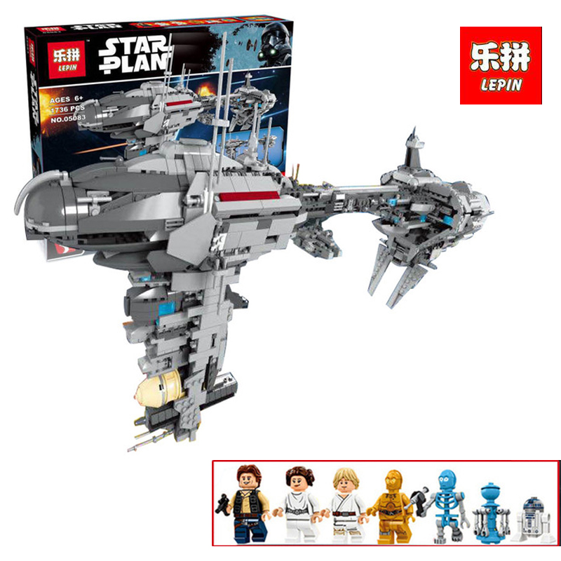 Lepin 05083 New 1736Pcs Star Series wars Dental warships Educational Building Blocks Bricks Funny Toys legoINGlys Model Gift 2017 neue lepin 05083 star cool spielzeug wars dental kriegsschiffe 1736 stucke educational building blocks bricks spielzeug mod