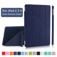 Redlai Ultra Thin PU Leather Slim Magnetic Folding Front Smart Cover Black Plastic Hard Case For