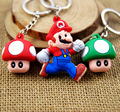 double-face Super Mario Bros keychain key ring mushroom key chain key holder cute portachiavi chaveiro llaveros mujer souvenir