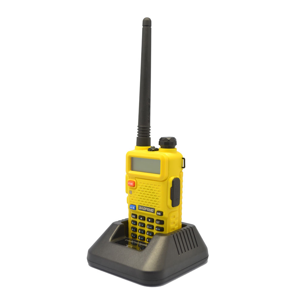 Yellow BaoFeng UV-5R 136-174/<font><b>400</b></font>-520 <font><b>MHz</b></font> Dual-Band CTCSS FM Ham Walkie Talkies image