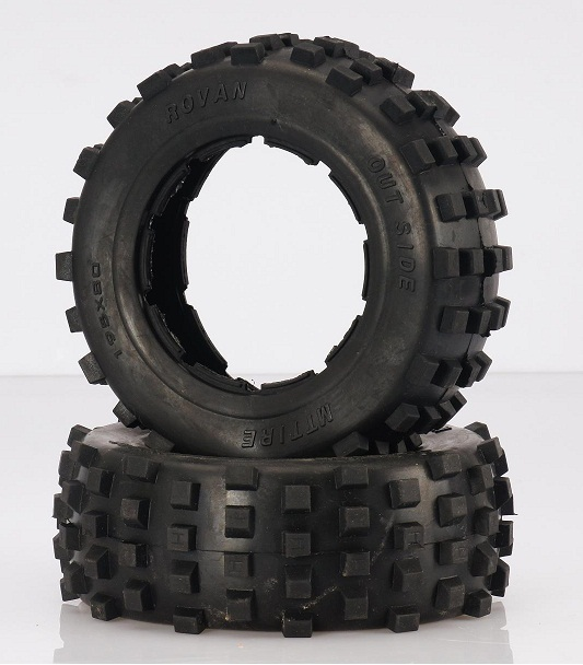 цены  Rear Truck MT Knobby Tires (Hostile style) (Set of 2)  95157 Fits on Rear of Baja Trucks, HPI Baja 5T, 5SC