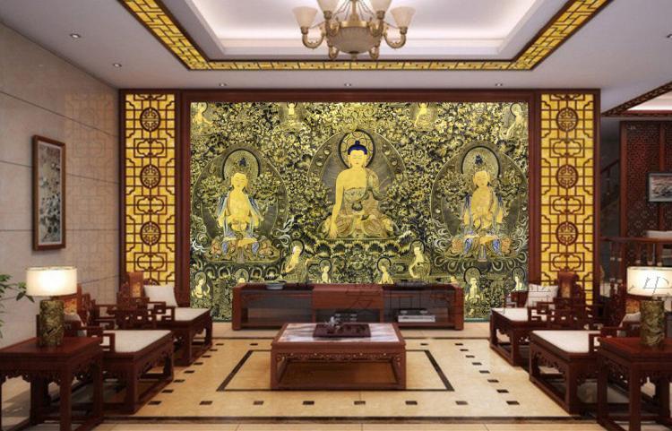 Aliexpress Com Buy Large Custom Mural Wallpapers Living: 3D Large Custom Wallpaper Seamless Fresco Tv Background