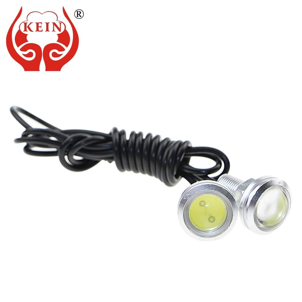 CHAVE 2 PCS 23 MM branco Olho de Águia DRL auto carro led luzes - Faróis do carro - Foto 1