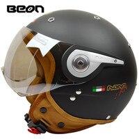 New arrival brand BEON Motorcycle helmet retro scooter open face helmet vintage 3/4 casque motociclistas capacete B 110A cascos