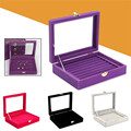 New Fashion Jewelry Cufflinks Display Shelf Holder Showcase Organizer Earrings Ring Box Case Tray For Jewlery Gift Boxes