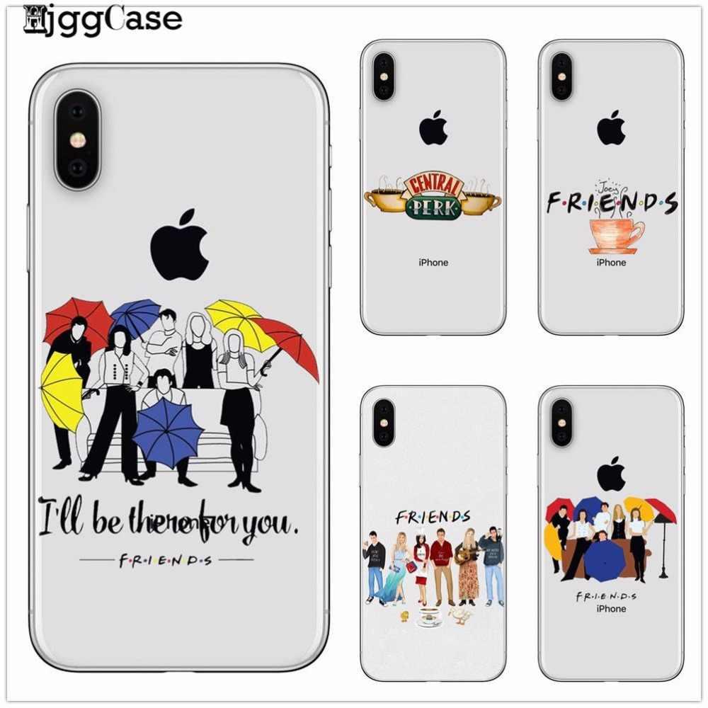 For iPhone X 7 7Plus 8 8Plus 6 6S Plus 5 5S SE Friends TV Show Funny Central Perk Park TPU Soft Phone Case Cover Coque Fundas