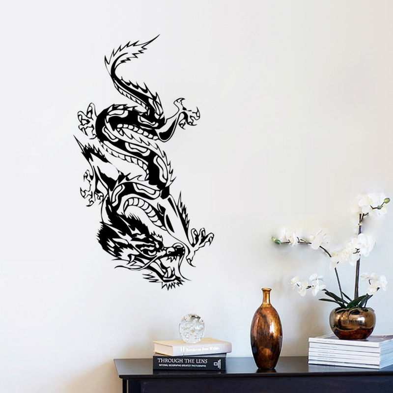 Oriental Dragon Wall Sticker Loong Wall Decal Morden Art Mural Removable Vinyl  Wall Decals Home Decor In Wall Stickers From Home U0026 Garden On  Aliexpress.com ...