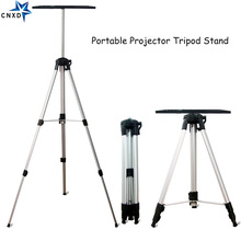 50 140cm Portable Projector Tripod Mount Stand Laptop Floor Stand with Tray DVD Player Holder Height Adjust Projector Bracket