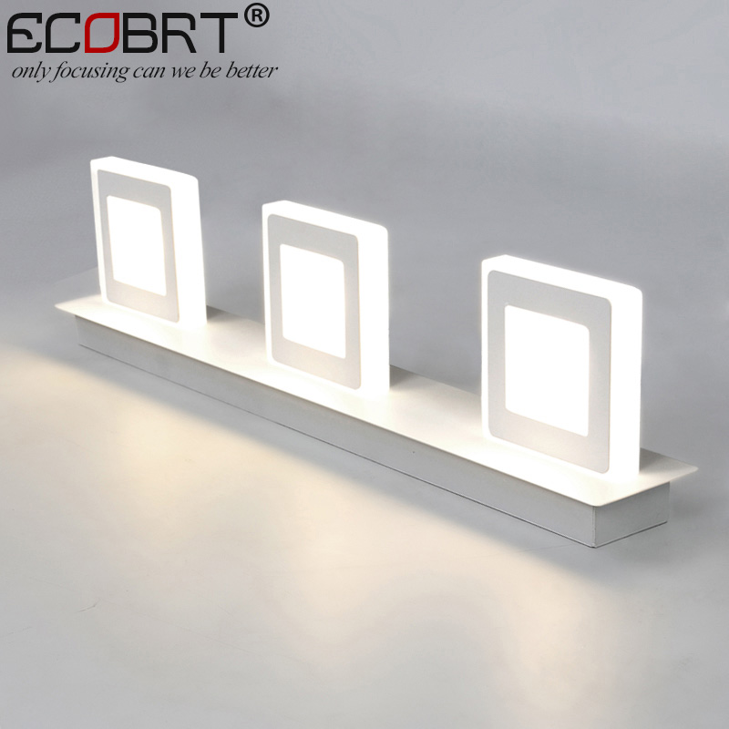 Modern 9W White Led Wall Lamps in Bathroom Wall Mounted 3-lights Over Mirror Lights 48cm Long AC220V/110VModern 9W White Led Wall Lamps in Bathroom Wall Mounted 3-lights Over Mirror Lights 48cm Long AC220V/110V