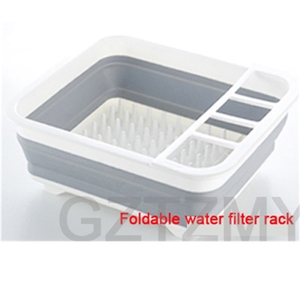 Image 5 - Foldable Dish Rack Kitchen Storage Holder Multi purpose Cutlery Storage Box Portable Collapsible Dish Drainer Stand Cup Holder