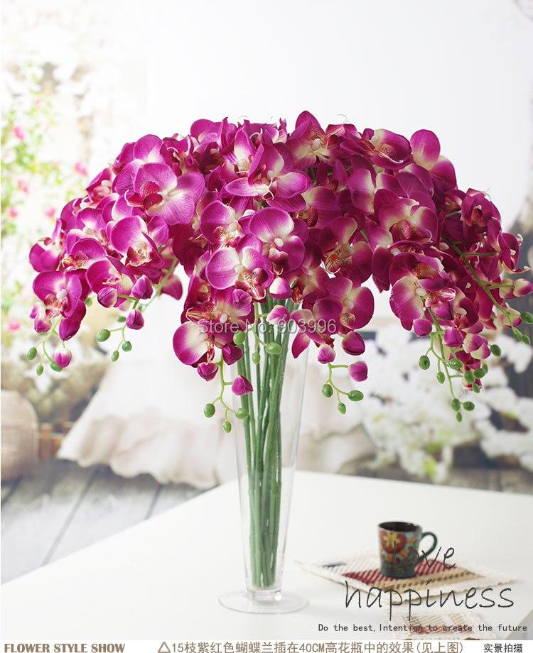 SPR 30 stks / partij kunstmatige vlinder orchidee zijde bloem - Feestversiering en feestartikelen - Foto 6