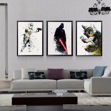 Звездные войны классический фильм плакаты холст картины подарок мальчик настенные картины принты поп-арт для детей гостиная домашний декор