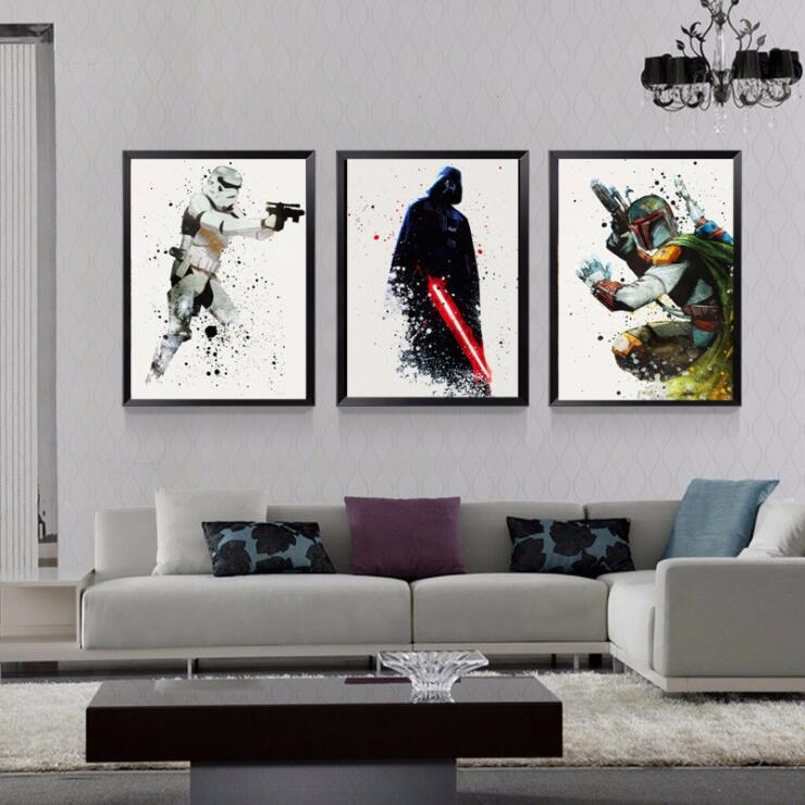 Star Wars Classic Movie Posters Canvas Paintings Gift Boy Wall Pictures Prints Pop Art for Kids Living Room Home Decor image