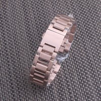 22mm Stainless Steel Watchband Bracelet Rose gold Mens Luxury Replacement Curved End Metal Watch Strap Accessories