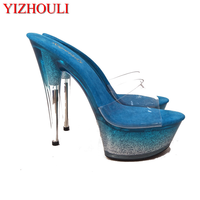 The latest models of 2018 are gradually changing color, catwalk shows, stage Sandals, nightclubs and high dancing Sandals
