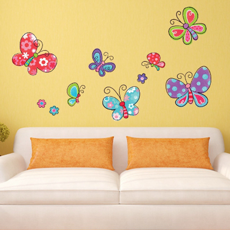 Zs Sticker Cute Girl Wall Stickers for Kids Rooms Daycare Wall ...