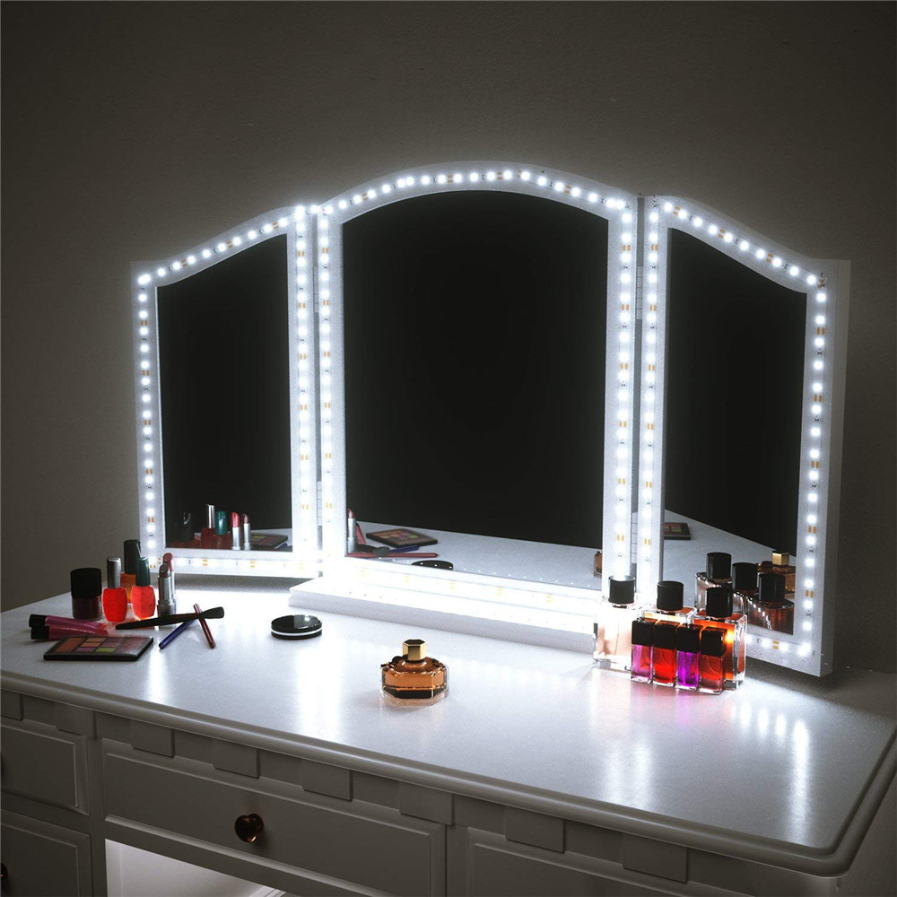 Us 12 98 30 Off Led Vanity Mirror Light Kit Dimmable Hollywood Style 4m 13ft Makeup Lights Strip For Dressing Table Lamp In Night