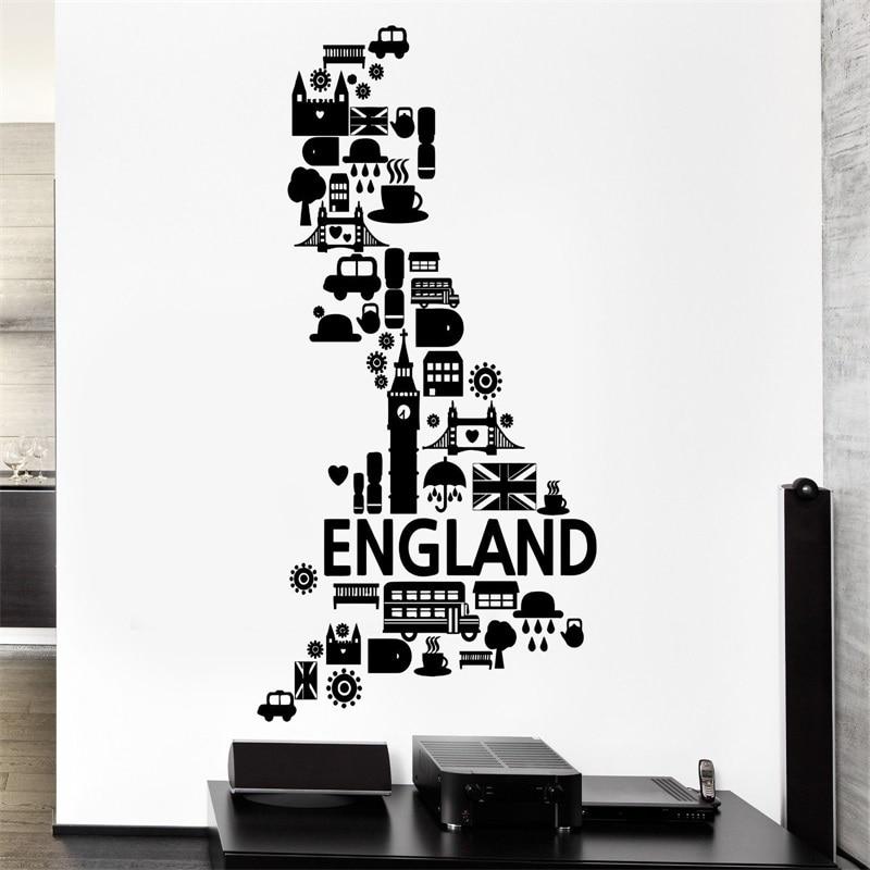 На стены англия лондонский дождь великобритания автобус виниловые наклейки