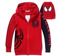 Children Coat Boys Spiderman Embroidered Hoodie Jackets Kids Cartoon Clothes Baby Boys Outerwear