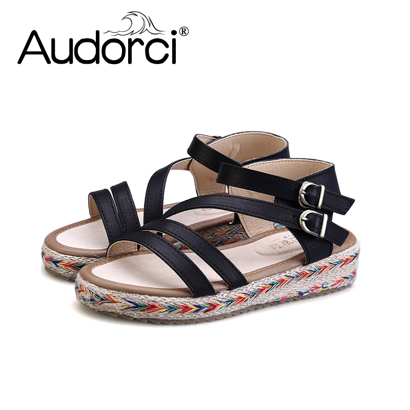 Audorci Fashion Woman Sandals 2018 Summer Shoes Women Casual Comfortable Open Toe Sandals Size 34-43 capputine new summer sandals woman shoes 2017 fashion african casual sandals for ladies free shipping size 37 43 abs1115