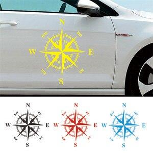 Image 1 - 50cm * 50cm araba pusula Totem Sticker sanat tasarım vinil pusula araba çıkartmaları ve çıkartmaları Hood Sticker kapak vücut aplike