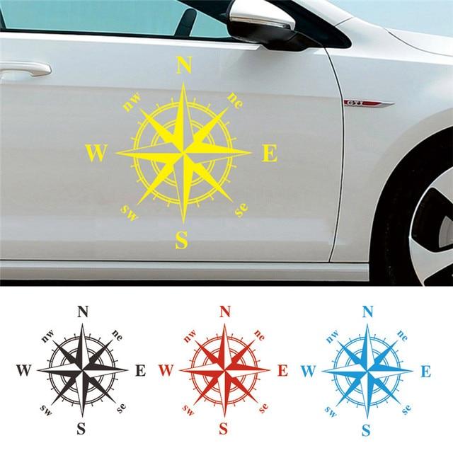 50cm * 50cm araba pusula Totem Sticker sanat tasarım vinil pusula araba çıkartmaları ve çıkartmaları Hood Sticker kapak vücut aplike