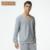 2016 Qianxiu New Macio De Malha de Algodão Manga Comprida Sólidos Pijamas Set para Casal Comfertable Casa Amantes Sleepwear Pijama