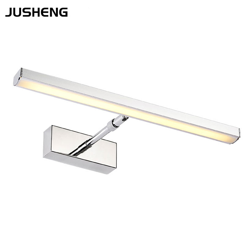 ФОТО New Adjustable LED Light Wall 5W 45.5cm Long  Stainless Steel Sconce Lighting Fixture 85-265V AC For Bathroom Dresser Washroom
