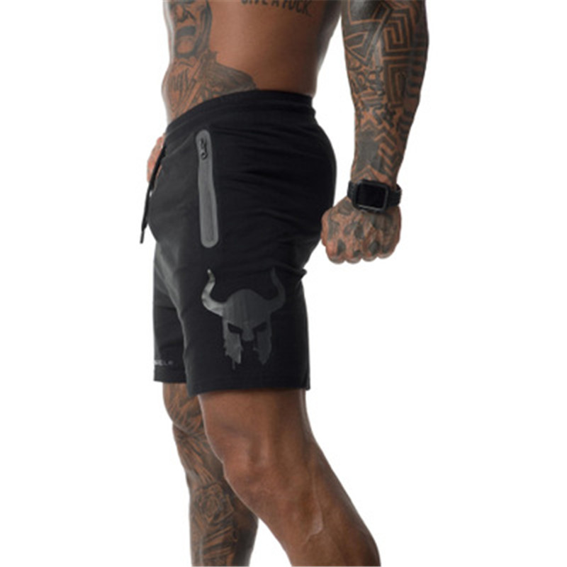 Casual Brand Men Shorts Zip Pocket Cotton Breathable Beach Shorts Joggers Gyms Fitness Bodybuilding Bermuda Fitness Workout