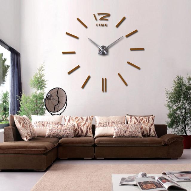 Hot Wall Clock Large Decorative Clocks Home Decor Diy Living Room Reloj Mural Sticker