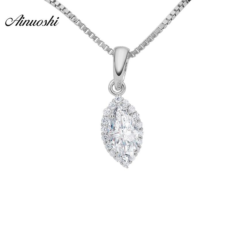 Aliexpress.com : Buy AINOUSHI 0.5 Carat Marquise Cut Halo
