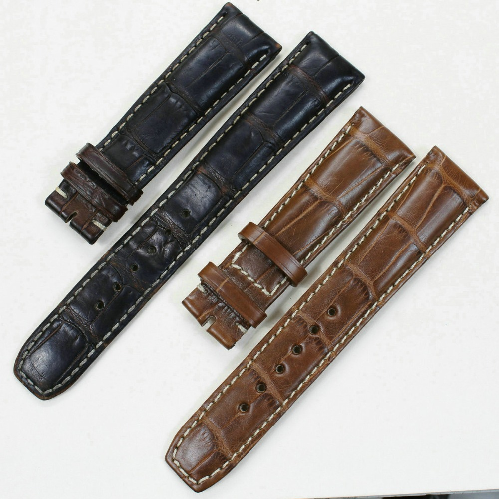 Pesno Customized Alligator Skin Leather Watch Strap As Your Requirement for Width Length Color