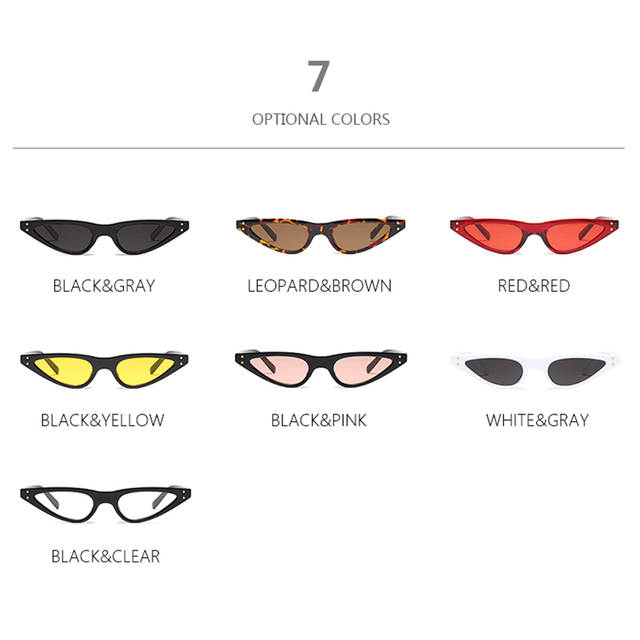 d67228df6726 TSHING RAY Unisex Flat Top Small Triangle Cat Eye Sunglasses Women Fashion  Color Lenses Cateye Sun