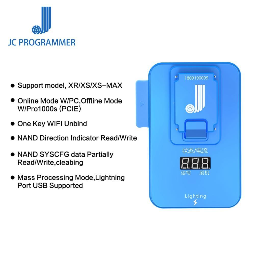 JC Pro1000S PCIE NAND Programmer JC P8 P7 For IPhone 7 7P 8 8P X XSMAX XR IPad PRO Read Write Error Test Fixture
