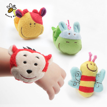 1Pc Animal Baby Toys 0-12 Months Plush Baby Rattles Baby Toy Wrist Strap Children Infant Newborn Plush Toy