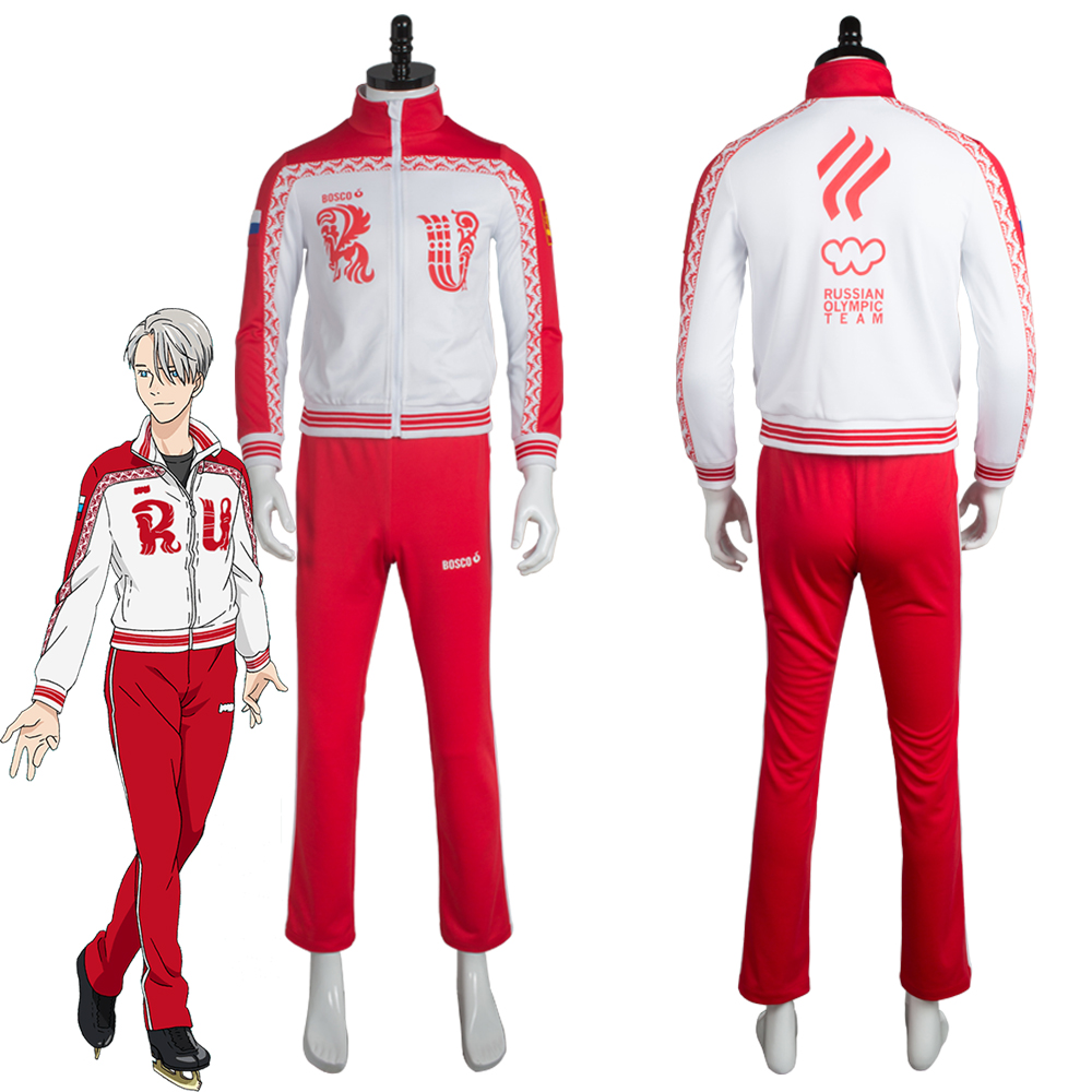 Yuri on Ice Viktor Nikiforov Cosplay Costume Uniform Jacket+Pants