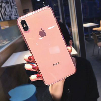 SUYACS 7 Candy Colors Clear Shockproof Phone Case For iPhone 11 Pro Max 7 8 Plus X XS Max XR 6 6S Ultra Thin Soft TPU Back Cover
