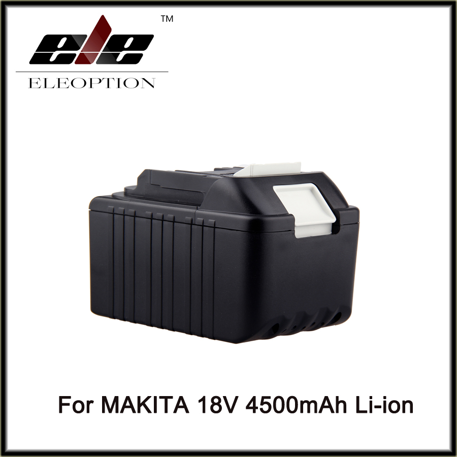 18V 4500mAh High Capacity Rechargeable Li-ion Replacement Power Tool Battery for Makita 18V BL1830 BL1840 LXT400 BL1815 194230-4 high quality 20v 2000mah li ion rechargeable battery power tool replacement battery for black
